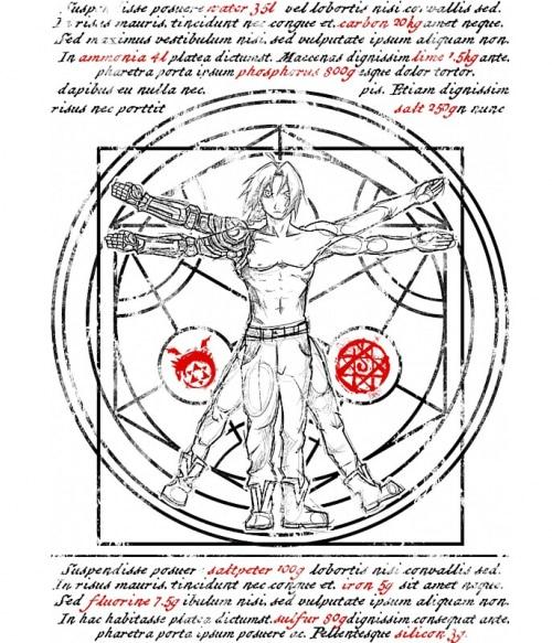 Vitruvius Edward Póló - Fullmetal Alchemist - Grenn