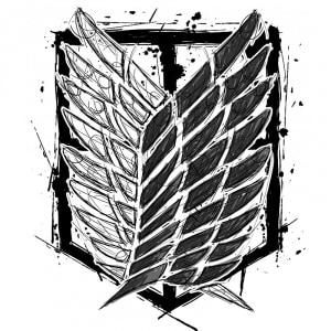 Graphic legion logo Póló - Attack on Titan - Grenn