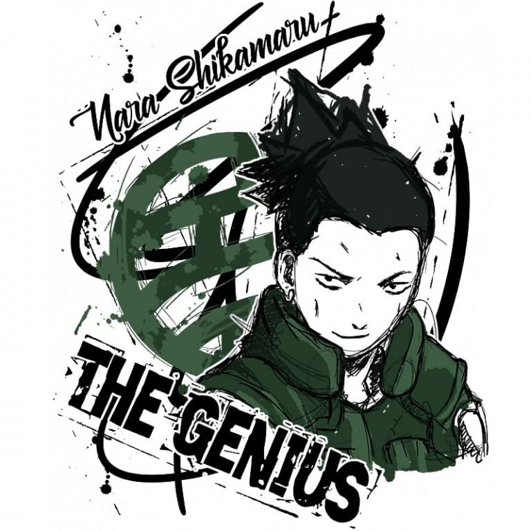 Nara Shikamaru Póló - Naruto - Grenn