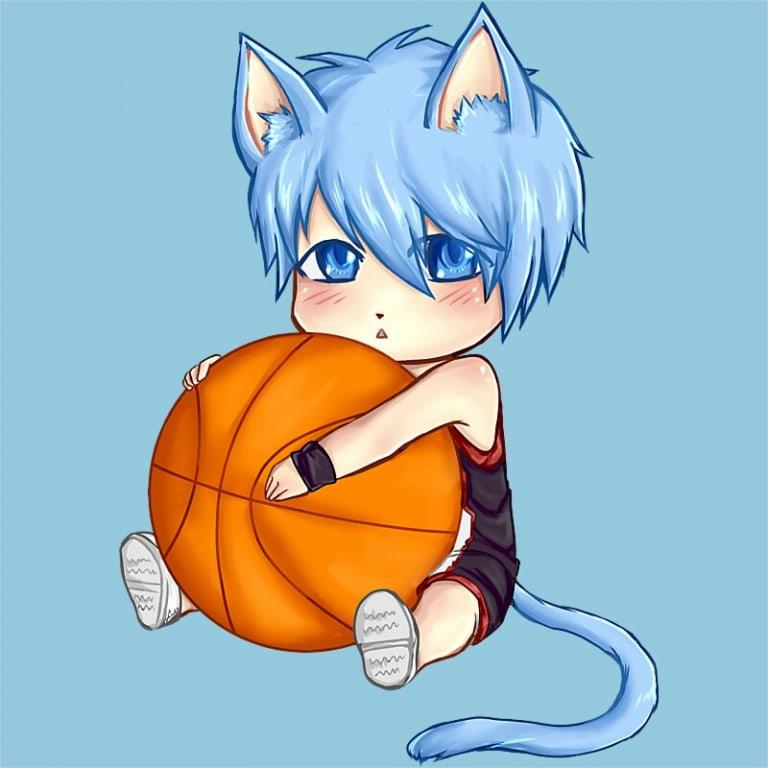 ChibiNeko Kuroko Póló - Kuroko's Basketball - Lindako