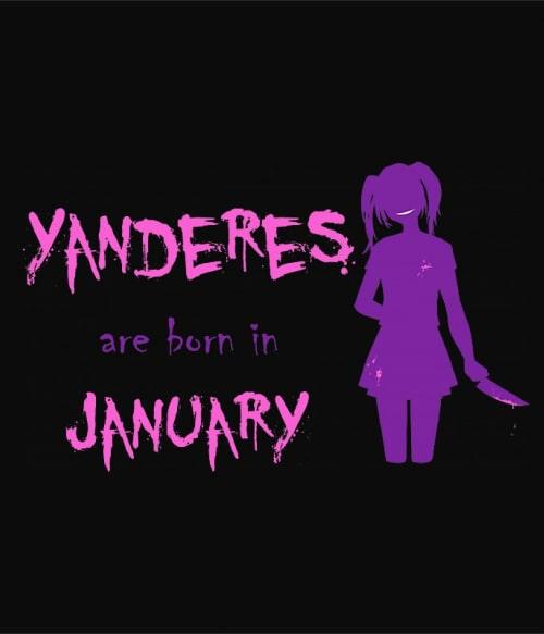 Született Yandere Január Póló -  - Lindako