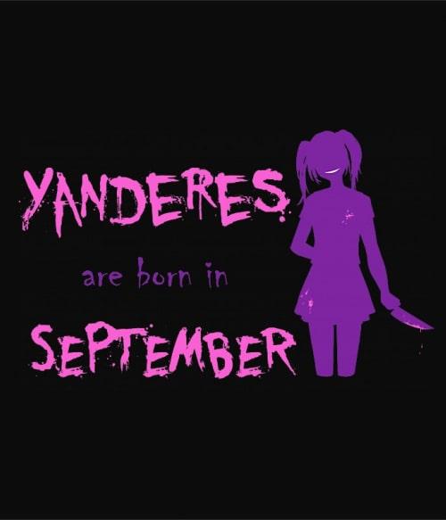 Született Yandere Szeptember Póló -  - Lindako