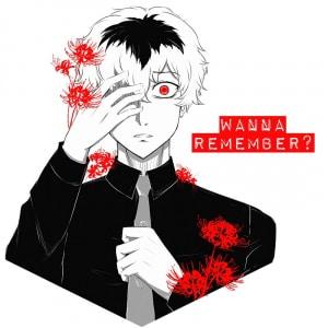 Wanna remember?  Haise Sasaki - Tokyo Ghoul Póló - Tokyo Ghoul:RE - Lindako