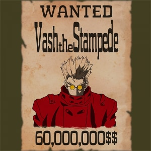 Vash wanted Póló - Trigun - Macy