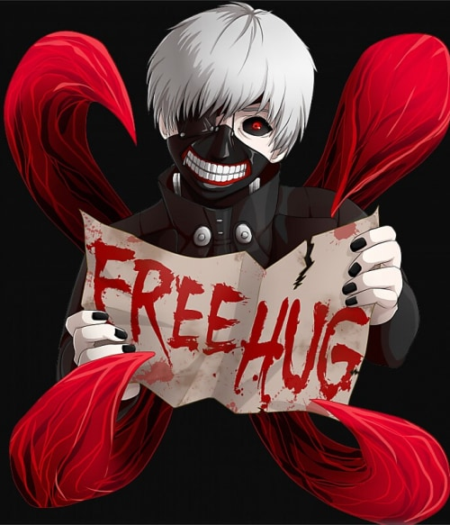 Kaneki Free Hug Póló - Tokyo Gholul - RenoViol
