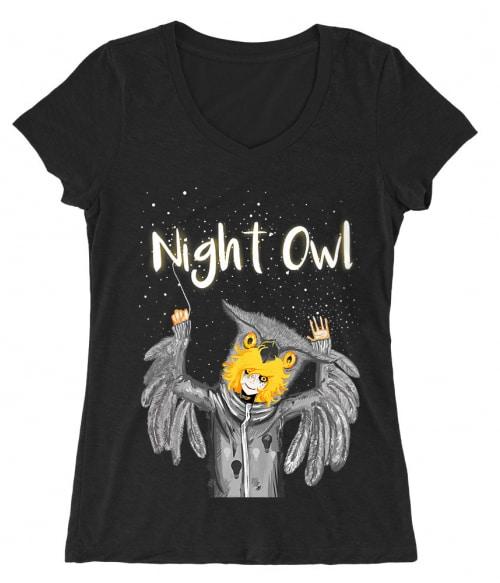 Night Owl Póló -  - Rotnoir