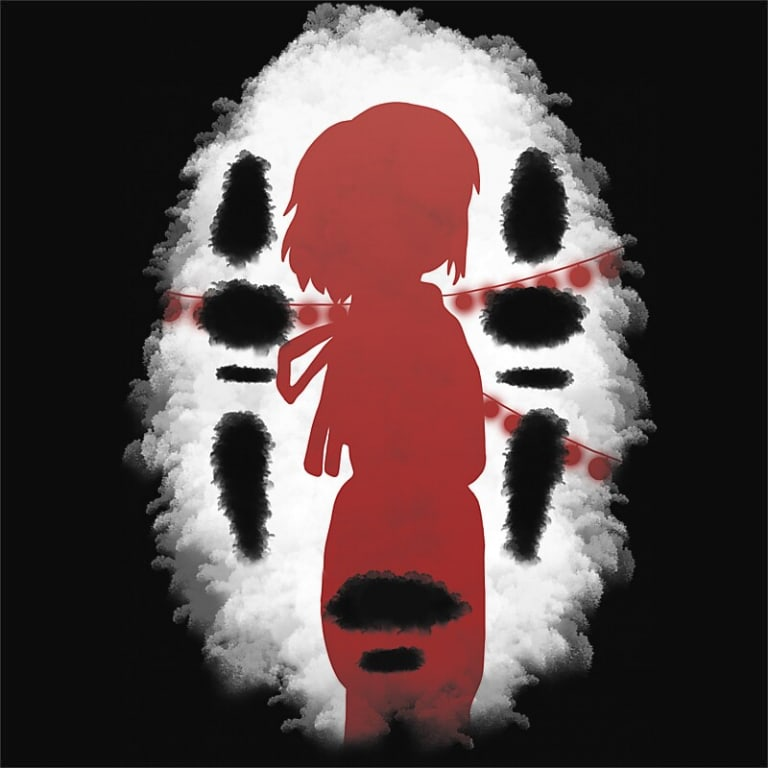 Chihiro Mask Póló - Spirited Away - Timmer