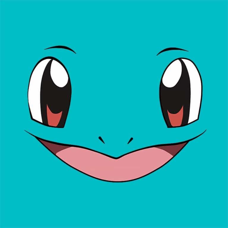 Squirtle face Póló - Pokemon