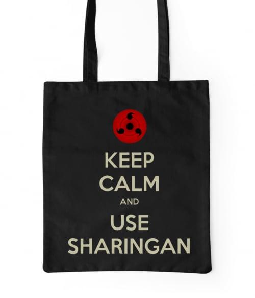 Keep Calm and use Sharingan Póló - Naruto